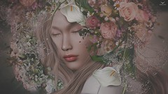 Dee~Bring in Spring.... (Skip Staheli *FULLY BOOKED*) Tags: skipstaheli secondlife delindastaheli delindadench avatar virtualworld dreamy digitalpainting flowers spring roses portrait closeup season romantic sweet cute