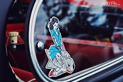 A Lady And Her Torpedo (Hi-Fi Fotos) Tags: pinup girl sticker tattoo custom kustom lowbrow torpedo window glass decal hotrod nikkor 50mm nikon d7200 hififotos hallewell