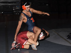 Isaiah Locsin vs Dylan Thurston 4358 (Chris Hunkeler) Tags: isaiahlocsin stanford dylanthurston universityofillinois bout240 141 roadrunneropen amateur college wrestling