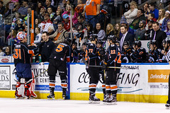 """Kansas City Mavericks vs. Florida Everblades, February 18, 2018, Silverstein Eye Centers Arena, Independence, Missouri.  Photo: © John Howe / Howe Creative Photography, all rights reserved 2018 • <a style=""""font-size:0.8em;"""" href=""""http://www.flickr.com/photos/134016632@N02/39491127185/"""" target=""""_blank"""">View on Flickr</a>"""