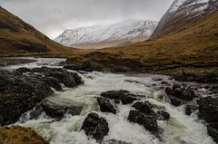 Glen etive waterfall (bobmack1980) Tags: water landscape scotland highlands waterfall river mountains glencoe