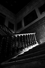 black stairs (danielsan14) Tags: stairs black white marble sevilla library