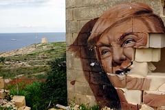 Mr President (nothinginside) Tags: trump mr president seaside abandoned area resort pembroke malta 2018 holiday street art pop popart murales murale graffiti wall tower hill white rocks