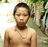 bare chested boy in the street (the foreign photographer - ฝรั่งถ่) Tags: bare chested boy amulet street khlong thanon portraits bangkhen bangkok thailand canon