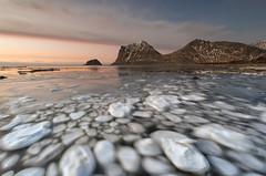 Haukland beach - Lofoten Islands - Norway (Giovanni Garani) Tags: ice lofoten sea mare norway norvegia winter inverno ghiaccio spiaggia beach panorama landscape viaggio travel