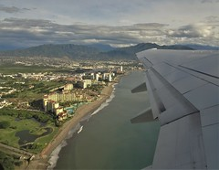 Good bye for now <>  Hasta la vista (France-♥) Tags: 231 mexique puertovallarta departure voyage travel aerial fromthewindowseat airplane avion beach plage hotel water eau baie baya mountain