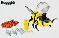 4 - LEGO Ideas - TERRA-FB 1 Spaceship Mech existing color update (buggyirk) Tags: bumblebee bumble bee plants plant mission terraforming terraformer terraform earth cannon cannons cockpit yellow black bud sprout sprouting water mech robot robots mecha planet science scientific fiction hive colony conservation garden grow life astronaut astronauts vehicle vehicles lego ideas contest moc afol terrafb 1 mars spaceship space toy toys