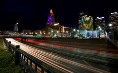 Love the Buzz (KC Mike Day) Tags: i70 highway downtown kcmo trails light car architecture urban missouri kansascity photography night exposure long