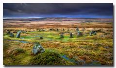 Scorhill Stone Circle (jeremy willcocks) Tags: scorhillcircle dartmoor devon ukjeremywillcocksc2018fujixpro2xf1024mm colour landscape moor moors view stones standing clouds wwwsouthwestscenesmeuk