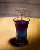 Waterdrop collision (pammiesd2011) Tags: water drop collision splash shotglass colour blue purple lighting fastphotography