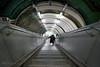 Running in middle - Paddington (Luke Agbaimoni (last rounds)) Tags: london londonunderground perspective street streetphotography stairs escalator