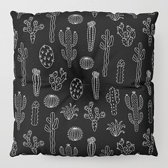 Photo (Society6 Curated) Tags: apartment bedroom pillow pattern patterns blackandwhite want nature black fashion collegeapartment illustration cool white plants sale style earth cactus desert chic art like apartmenttherpay society6 shop buy cacti homedecor design