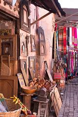 (Bantamgirl) Tags: morocco marrkech street scene medina souk gifts frames handmade crafts hanging woodwork