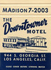 The Downtowner Motel (jericl cat) Tags: downtowner motel losangeles downtown midcentury script history paper ephemera neon sign