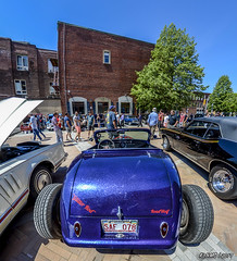 1931 Ford roadster hot rod {fisheye lens view} (kenmojr) Tags: 1931 2017 antique atlanticnationals auto car carshow centennialpark classic downtown flame flamed flames ford hotrod kenmorris kenmo modela moncton newbrunswick roadster show vehicle vintage fisheye 8mm bower canada