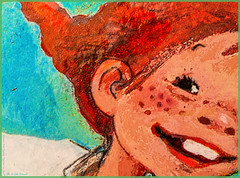 Speckled Freckles (Silke Klimesch) Tags: macromonday speckled mm hmm happymacromonday 7dwf pippilongstocking pippilångstrump freckled freckles drawing picturebook cmyk colourful fun processcolor fourcolor dots astridlindgren spunk pippilovesspunk 1948 pippilangstrumpf vierfarbdruck druckpunkte dpi dotsperinch pippicalzaslargas fifibrindacier pippicalzelunghe pippilangkous pippilangstrømpe pippiuzunçorap pipidugačarapa пеппидлинныйчулок makrofotografie nahaufnahme olympus omd em5 mzuikodigitaled60mm128macro microfourthirds on1photoraw2018