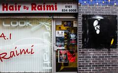 Revolutionary's hair dresser (PDKImages) Tags: manchesterstreetart street art manchester streets streetart urban posterart pasteup streetscenes