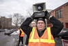 Protest against Donald Trump on the anniversary of his inauguration (Fibonacci Blue) Tags: minneapolis mpls protest trump march demonstration republican event gop dissent outcry activism outrage twincities activist minnesota loudspeaker megaphone union labor