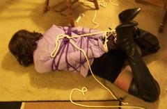 100_3829 (1) (Gina Ropeburn) Tags: bdsm bondage humiliation hogtie sissyslut sissypublicexposure ginaropeburntiedup boots leatherboots helpess tranny thighhighboots trannybdsm
