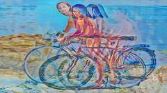 Bildschichten Rad Nudisten 32j (wos---art) Tags: bildschichten rad räder bycicle radfahrer unfall schrott radwandern gruppe