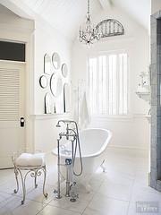 Antique Mirrors Collection (Heath & the B.L.T. boys) Tags: bathroom mirror shower tub sink white chair vintage antique chandelier shelves ledge
