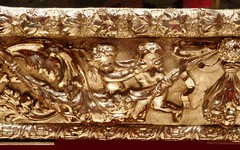 Silver Mirror, detail, c.1670 (jacquemart) Tags: artandpower charlesii queensgallery london royalcollection restoration monarchy silvermirror detail c1670