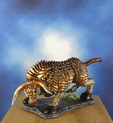 Brass-Bronze-Gold-Bull-Reaper-Miniature-01 (Dead Bard Miniatures) Tags: dd dungeons dragons reaper ralpartha grenadier warhammer wotc chainmail pathfinder painted miniature mini