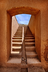 adobe stairway (freakingrabbit) Tags: travel door old architecture wall stairs steps staircase up step clay iran persia adobe persepolis