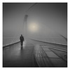 Isoisänsillalla VI (Vesa Pihanurmi) Tags: man figure character bridge helsinki foggy architecture blackandwhite monochrome street metaphysical metaphysics streetphotography dark