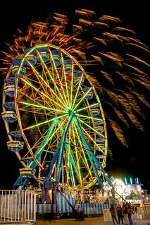 Ferris Wheel with Fireworks