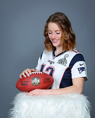 Kelsey - Studio Portraits (Peter Camyre) Tags: newenglandpatriots cheerleader audition photos images pictures new england patriots femal model pose posing canon 5d mkiii football jersey tom brady nfl studio photography peter camyre photographer pretty beauty beautiful