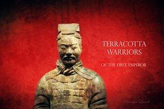 Terracotta Warrior (socalgal_64) Tags: statue terracotta terracottaarmy warrior army terracottawarriors chinese china franklininstitute emperor carolynlandi philadelphia pennsylvania philadelphiapa usa qinshihuang philly museum texture posterstyle art interesting historical history exhibit display artifacts ancient old antique 2000yearsold