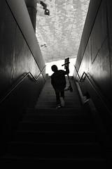 Subiendo / Going up / Monter (Joan Fernàndez) Tags: bw white blancoynegro black stairs escalera children people nikond3400 nikon day morning