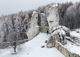 Walls of Ogrodzieniec Castle, Lesser Poland (Malopolska), Poland