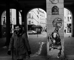 Paris 0001 (HAKUDO Photography) Tags: paris men street france french pentax black white popart graphitti