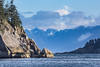 Morning sun (Oleg S .) Tags: alaska mountains usa sea rock water nature