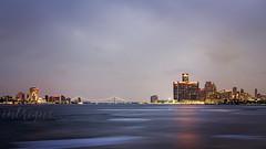 Detroit Skyline - Cloudy Dusk (phenderstrat) Tags: 100d canon detroit skyline belle isle state park sl1 1855 stm jeffrey dobbs intrigue photography