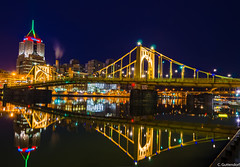 Roberto Clemente Bridge (charlie_guttendorf) Tags: guttendorf nikon nikon18200mm nikond7000 outdoorphotography outdoors outside pittsburgh pittsburghpa nightphotography night urban urbanphotography nightscapes bridge robertoclementebridge hdr