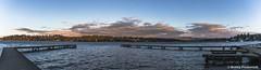 Lake Washington Panorama (BobbyFerkovich) Tags: lake washington luther burbank park water sky clouds dock panorama