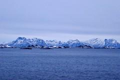 Mountains between Stokmarkness and Svolvær (kim kim) Tags: svolvær hurtigruten norway arctic