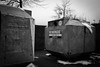 (heinrichj) Tags: trash trashcan rubbish garbage litter waste wasteland wastetales monochrome winter snow cold glass bottles container recycle recycling city street streetphotography fujix fujifilm fujinon xseries xf23 xf23f2 xf23mm xf23mmf2