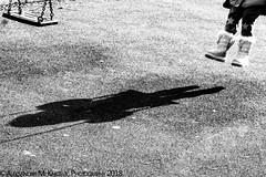 One Day, I Will Outgrow This Shadow! (Aleksandar M. Knezevic Photography) Tags: belgrade beograd serbia srbija street urban bw blackwhite shadow playing children child streetphoto streetphotography bwphoto bwphotography ngc