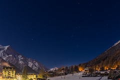 Chamonix at Night (Wolfhowl) Tags: chamonixvalley france frenchalps landscape montblanc stargazing chamonixmontblanc stars mountains february франція hdr snow chalet night moonlit urban moonlight alpinemountains chamonix sky winter montblancmassif шамоні alps 2018 europe travel valley