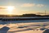 Crisp and cold morning (kentkirjonen) Tags: abandoned övergivet övergiven canon 80d rust rost old gammal sweden sverige dalarna ue decay förfall wood trä minesite gruvområde snow snö bangård train morning morgon morgonljus cloud clouds solen sol soluppgång sunrise track tracks spår snöspår sky himmel