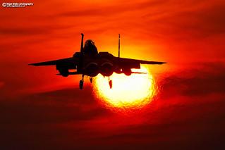 F-15C Eagle at sunset RAF Lakenheath