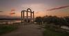 Atardecer. (Amparo Hervella) Tags: templodelosmármoles cáceres españa spain templo nube agua románico largaexposición d7000 nikon nikond7000 comunidadespañola