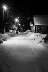 Vännäs by night. (e.aberg86) Tags: bw blackandwhite svv svartvitt snowy xt1 norrland vännäs kyla cold vinter winter north sverige sweden f2 35mm fujinon fujifilm fuji