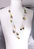 collier sautoir vert & jaune1 (dorémifasolafimo) Tags: polymère pâte bijoux collier sautoir polymer clay necklace fantaisie diy faitmain