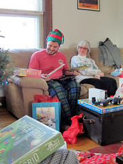 Christmas morning (pr0digie) Tags: rochester christmas mom nate presents catan settlersofcatan powergrid