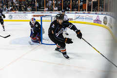 "Kansas City Mavericks vs. Toledo Walleye, January 20, 2018, Silverstein Eye Centers Arena, Independence, Missouri.  Photo: © John Howe / Howe Creative Photography, all rights reserved 2018. • <a style=""font-size:0.8em;"" href=""http://www.flickr.com/photos/134016632@N02/24969296847/"" target=""_blank"">View on Flickr</a>"